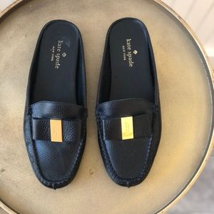 KATE SPADE | MARLY | BLACK LEATHER MULE | 6 | GUC